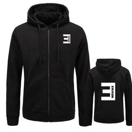 sweatshirt eminem Rabatt Der Hoodies Eminem der neuen Herbstmänner druckten dünnen Reißverschluss verdicken Wolljacke-Sweatshirt-Mann-Sportkleidungs-Art- und Weisekleidung Größe M-XXL