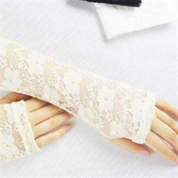 2019 летние длинные перчатки 1 пара летнего солнцезащитного крема пляжные перчатки сексуальные перчатки без пальцев Весна лето Женская мода длинное черное кружево скидка летние длинные перчатки