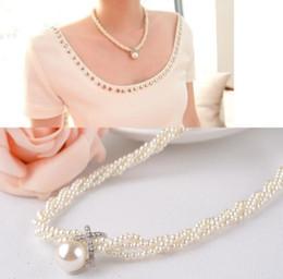 acessórios para correntes de pescoço moda Desconto Moda imitação pérola clavícula cadeia curto selvagem vestido acessórios colar feminino pescoço cadeia de roupas de jóias