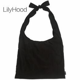 Borsa grande tote tessuto online-LilyHood Large Tote Bags in tessuto femminile Soft Light Casual grande capacità Crossbody Bag per le donne Shopping Shopper Bag Dropshipping