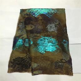 Tessuto di seta di alta qualità per la signora vestito tessuto di seta george ricamato africano metallico 114 cm / 8 mm 5 metri! Lxe081902 da pizzo giallo george fornitori