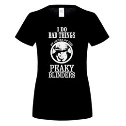 Wholesale Unique Tee Shirts - Peaky Blinders Graphic T-Shirt 2017 Shirt Customizer Big Size Unique Tee Shirt Camisa Tee-Shirts Promotional Price