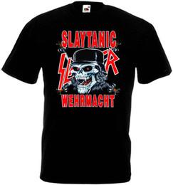 Heavy metal t shirt nouveau en Ligne-Slayer Slaytanic Wermacht v1 T shirt noir poubelle en métal lourd toutes tailles S-5XL 2018 été nouveau hommes en coton T-shirt à manches courtes