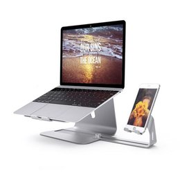 Wholesale Free Standing Cooler - Free shipping Fashion Laptop Stands Aluminum Stand for Notebook For Laptop Holder with Cooling function Universal Metal Bracket