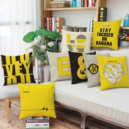 Wholesale Wholesale Geometric Pillow Cushion - Geometric pattern English letters pillow case 8 styles home living room decorate pillowcase 45*45cm sofa cushion cover