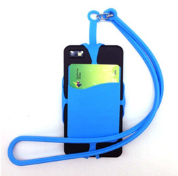 Handy-armbänder online-Universal Mobile Silikon Lanyard Smart Phone / Kartenhalter Moblie Phone Straps Handy-Halter-Riemen-Halskette Handschlaufe