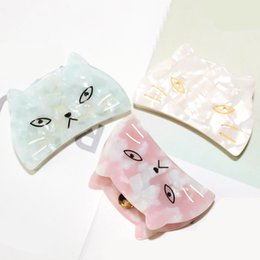 Wholesale Girls Hair Clip Holder - New Acetic acid cat crab hair claw clips For women girl headwear Ponytail holder accessories festival gift Crabs Jewelry