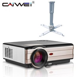 Wholesale Movie Shows - LED 1080p HD Projector + Big Ceiling Mounted Bracket Home Cinema Theater Movie TV Show Projection Beamer HDMI VGA USB AV