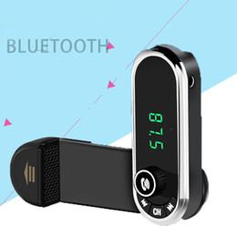 Mãos livres carro titular do telefone on-line-Mãos Livres Sem Fio Bluetooth Transmissor FM TF AUX Kit Modulador de Carro MP3 Player Titular De ventilação De Ar Suporte Do Telefone Do Carro Stand OTH747