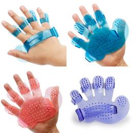Wholesale Finger Rake - Shower Articles Pet Palmar Shape Dog Grooming Five Finger Take Plastic Cement Multiple Colors Bath Brush 0 65tt V