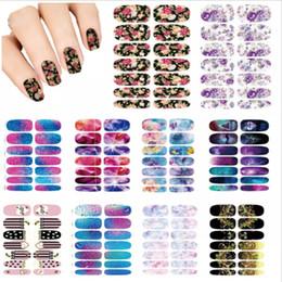design de mode artistique Promotion Nails Art Lot fleur Mystery Galaxies Stickers design pour ongles Décor manucure Fashion Nail Stickers Wraps Stickers eau Stickers
