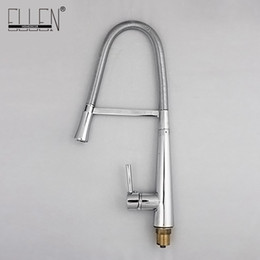 torneira cozinha kitchen Coupons - Soild brass polished chrome kitchen faucet deck mounted pull down single lever single hole torneira cozinha
