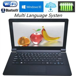 Wholesale Netbook Dhl - Ultraslim 11.6 inch Intel Z3735F 1.33GHZ Quad Core Laptops Computer Windows 10 J1800 J1900 Wifi WebcamTa Netbook with Free DHL