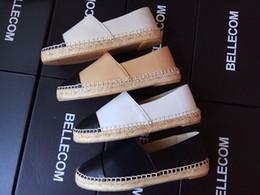 Wholesale White Round Toe High Heels - Luxury Women Soft Leather Espadrilles Platform loafers Brand Designer Sheepskin Fashion Flats Woman high quality slip-on Casual Shoe,35-42