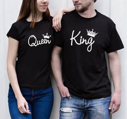 4e2d34639ed kings long sleeve shirts Coupons - LOVERS T-shirts Women Summer QUEEN Men  KING Tees