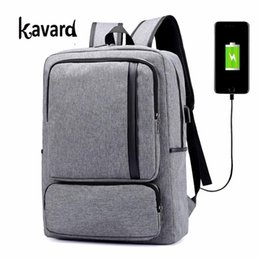 Wholesale Anti Thief Bag - Kavard Backpack Men Laptop Backpacks Large Capacity Canvas Travel School Bags for Teenager Anti-thief USB Charging Women Bagpack