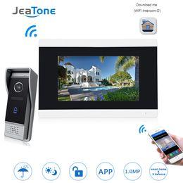 2019 zugang zu mobiltelefonen 7 '' Touchscreen Wireless WIFI IP-Video-Türsprechanlage Intercom Video Türklingel Wohnung Access Control System Bewegungserkennung günstig zugang zu mobiltelefonen