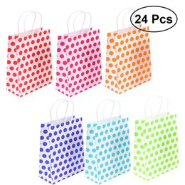 50pcs Paper Bag Ink Blue Polka Dots Pattern For Biscuit Party Decoration