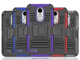 Wholesale Iphone Hard Case Holster Clip - 3 in 1 Armor Case For LG Aristo 2 X210 Tribute Dynasty LV3 2018 Google Pixel 2 XL Case Silicon Hard Phone bag Cover With Belt Clip Holster