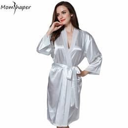 Wholesale Home Sexy Woman Robe - Robe Kimono bridesmaid robes Muslin Bathrobe women Pajamas Silk gowns women home robes clothing clothes Terry bathrobe peignoir