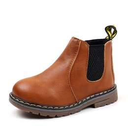 2e2eadbf7561 2018 Kids Autumn Winter Oxford Martin Shoes for Boys Girls Dress Ankle Boots  Fashion British Style Children Baby Toddler PU Ieather Boot NEW