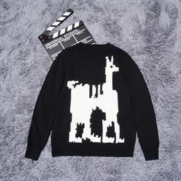 Wholesale Deer Belt - Top quality Luxury Sweaters deer print High street fashion clothing black 2XL m236