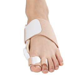 Wholesale Used Holes - Double hole thumb valgus bandage toe corrector metal reinforcement footbone valgus corrector for day and night use