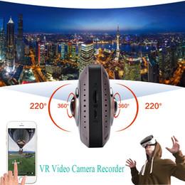 caméra panoramique fisheye Promotion Caméra DVR Sport-Gros 360 degrés 220 Fisheye Tous Voir la réalité virtuelle 3D caméra vr insta 360 caméra d'action panoramique