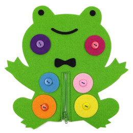 Wholesale Feeling Toys - Nonwoven Fabric Children Intelligence Toys Zipper Button Animal Toys The Teaching Equipment Of The Kindergarten Felt Handmade DIY 5bc W