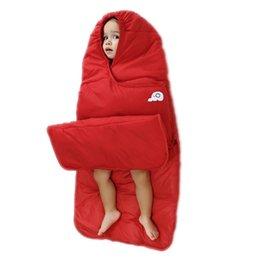 Wholesale Kids Sleeping Bags Boys - Multifunctional baby girls sleepsacks solid Sleeping Bags windproof infant boys envelope baby carry blanket kids sleeping bag