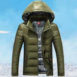 Wholesale Mens Green Parka - Fashion Men Winter Outdoor white Duck Down Jacket man casual hooded Down Coat outerwear mens warm jackets Parkas M-3XL