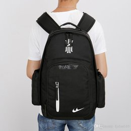 Wholesale Black House Letters - landy house 2017 The basketball team Knight Kaili Erwin 2 Kyrie Irving james computer backpack shcool bags sports backpack team Souvenirs