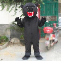 traje de urso tamanho completo Desconto Tamanho adulto Scarey Bear Mascot Costume Halloween Natal Preto Urso Com Raiva Vestido de Carnaval Completa Adereços de Corpo Outfit