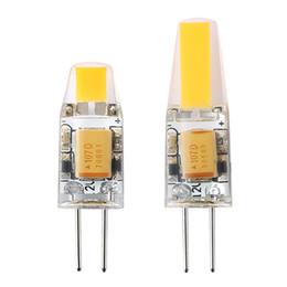 2019 halogênio, inundação, luz, lâmpadas G4 LED 12 V Regulável G4 Lâmpada LED 3 W 6 W Lâmpada Mini Lustre AC / DC 12 V Silicone Hight Brilho para Casa Decoração luz