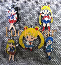 Encantos luna marinero online-Nueva Sailor Moon DIY Fabricación de Joyas de Metal Colgante de Joyería Que Hacen Regalos Del Partido D52