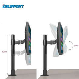"Wholesale Tv Lifts - 10-22"" LCD TV Desktop Mount Free Lifting Full Rotation Monitor Holder Table Clamping Mount LC250 40 60"
