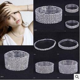 2019 chaîne bracelet en diamant 5 Styles Femme Bracelet Cristal Strass Stretch Bracelets Bracelet Bracelet Élastique De Mariage De Mariée Bijoux Livraison Gratuite