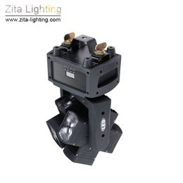 Wholesale Effect Wheels - Zita Lighting Moving Head Lights LED Rotating Double Wheel RGBW 8X10W 4 In 1 Beam Stage Lighting DMX 512 DJ Disco Pub Effect