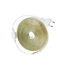 Wholesale Led Ip67 Plug - 3014 Led strip AC220V SMD chip 1-25M EU Plug 120leds m flexible light IP67 Waterproof Led light home Party Garden decor UW