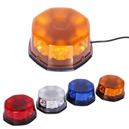 Wholesale Led Strobe Amber Roof - Super Bright 40W Car Roof Warning Light Dome Flashing Strobe Emergency Vehicle Magnetic Mounted Red Blue LED Police DC 12V 24V