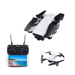 Wholesale rc tracks - Foldable Drone With HD FPV WIFI Camera Altitude Hold Track Navigation RC Selfie Drone 6-Axis RC Helicopter Quadcopter vs XS809