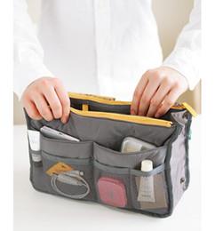 Nylon multi tasche handtasche online-Kosmetischer Organisator-Beutel der Ankunft 3pcs / lot im Beutel-Doppelreißverschluss Portable Multifunktionsreise-Taschen-Handtaschen-Verfassungs-Beutel