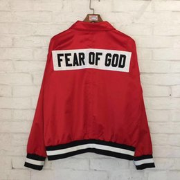 Wholesale Gods China - 18ss Fear Of God Jacket Men Women 1 High Quality China exclusive Fashion Windbreaker 1987 Collection Fear Of God Jacket