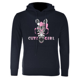 Wholesale zebra print jackets - New Cute Printing Zebra Hoodies Sweatshirts Men Women 3D Pullover Tracksuits Hooded Female Jackets Fashion Casual Outwear Spring