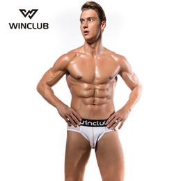 2020 ropa interior de malla de algodón hombres WinClub Men Underwear Sexy Mens Briefs ropa interior empuja hacia arriba las caderas bolsa Gay Mesh Cotton Calzoncillos masculinos ropa interior de malla de algodón hombres baratos
