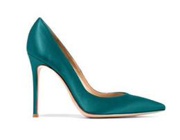 df209eda9803 Red Pink Silk 12CM High Heels Women Shoes Sexy Pointed Toe Bridal Wedding  Shoes Slip-on Stilettos Heels Women Pumps