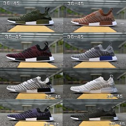 2bc1f04db3160 NMD R1 Running Shoes 2018 Chukka Primeknit Blue White Tint America Mens And Womens  Sport Mesh Brathable Sneaker Best quality