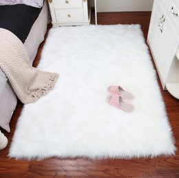 Rectangle Sheepskin Hairy Carpet Faux Mat Seat Pad Fur Plain Fluffy Soft  Area Rug Home Decoration Area Rug Living Bedroom Blanket 996f50236