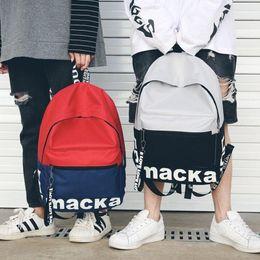35bab9b6f79bc bolsas mochilas Rabatt Frauen Fashion Letters Leinwand Rucksäcke Weiblichen Rucksack  Schule Rucksack Für Jungen Mode Reisetasche