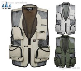 Wholesale Plus Equipment - Fall-2015 new mens fishing equipment cardigan vests waistcoat plus size XXXL 5XL outerwear clothing photographer sleeveless jacket 56